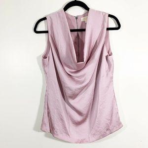 MK Blush Pink Sleeveless CowlNeck Shell Top Blouse